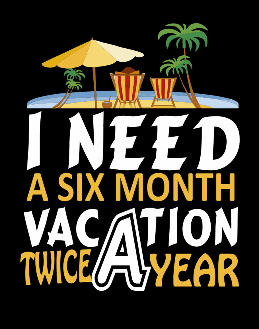 I Need Six Month Half Sleeve T-Shirt Black