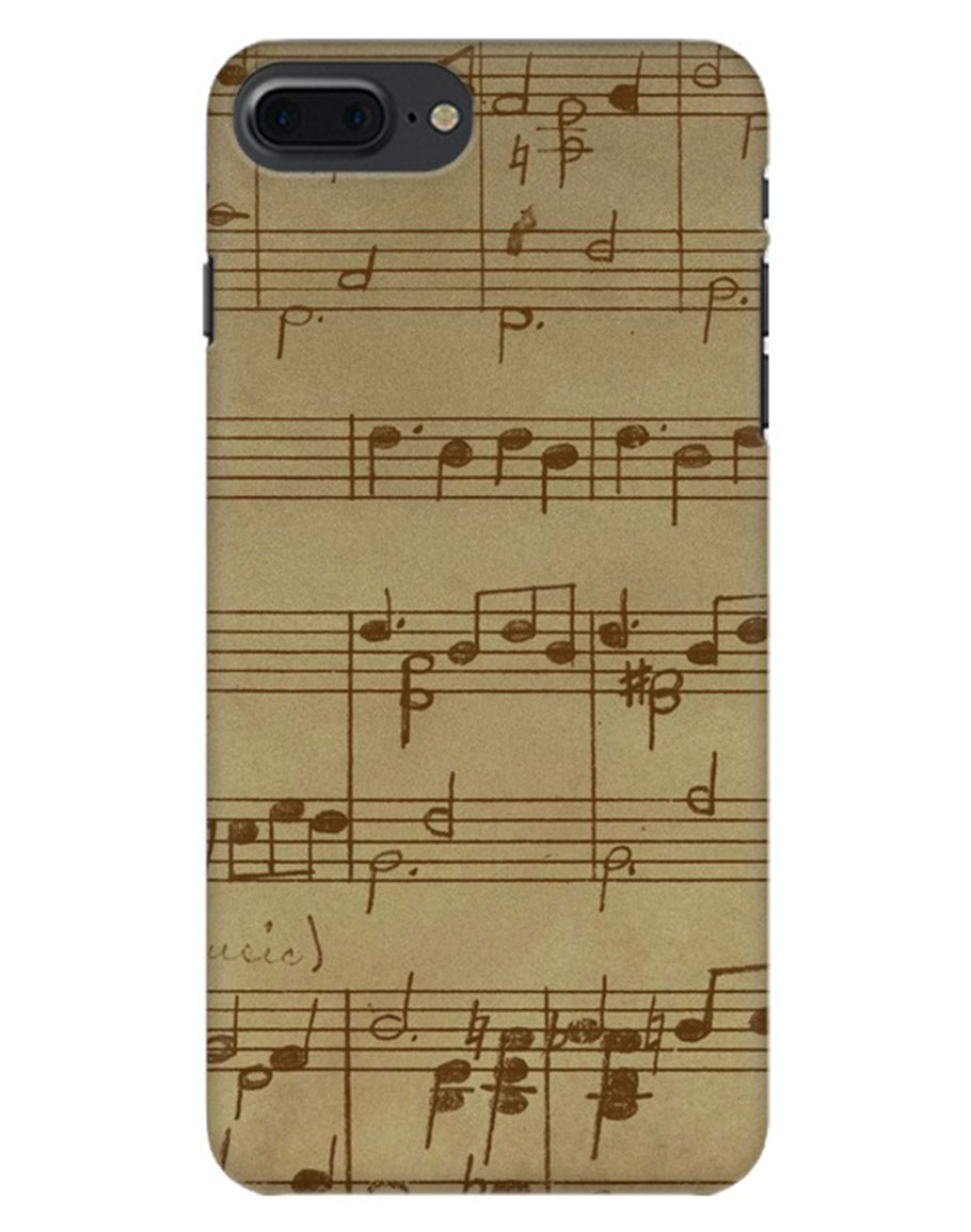 Gray Music Iphone 8 Plus Mobile Cover