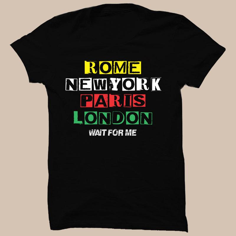 RNPL Wait Half Sleeve T-Shirt Black