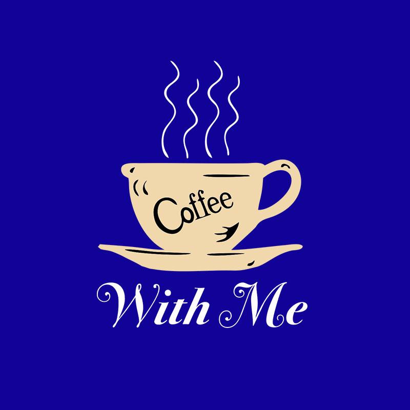 Cofee With Me Half Sleeve T-Shirt R Blue