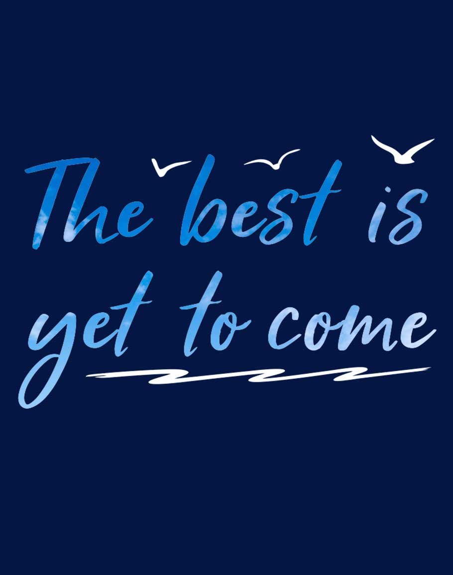 Best Is yet Half Sleeve T-Shirt Navy Blue