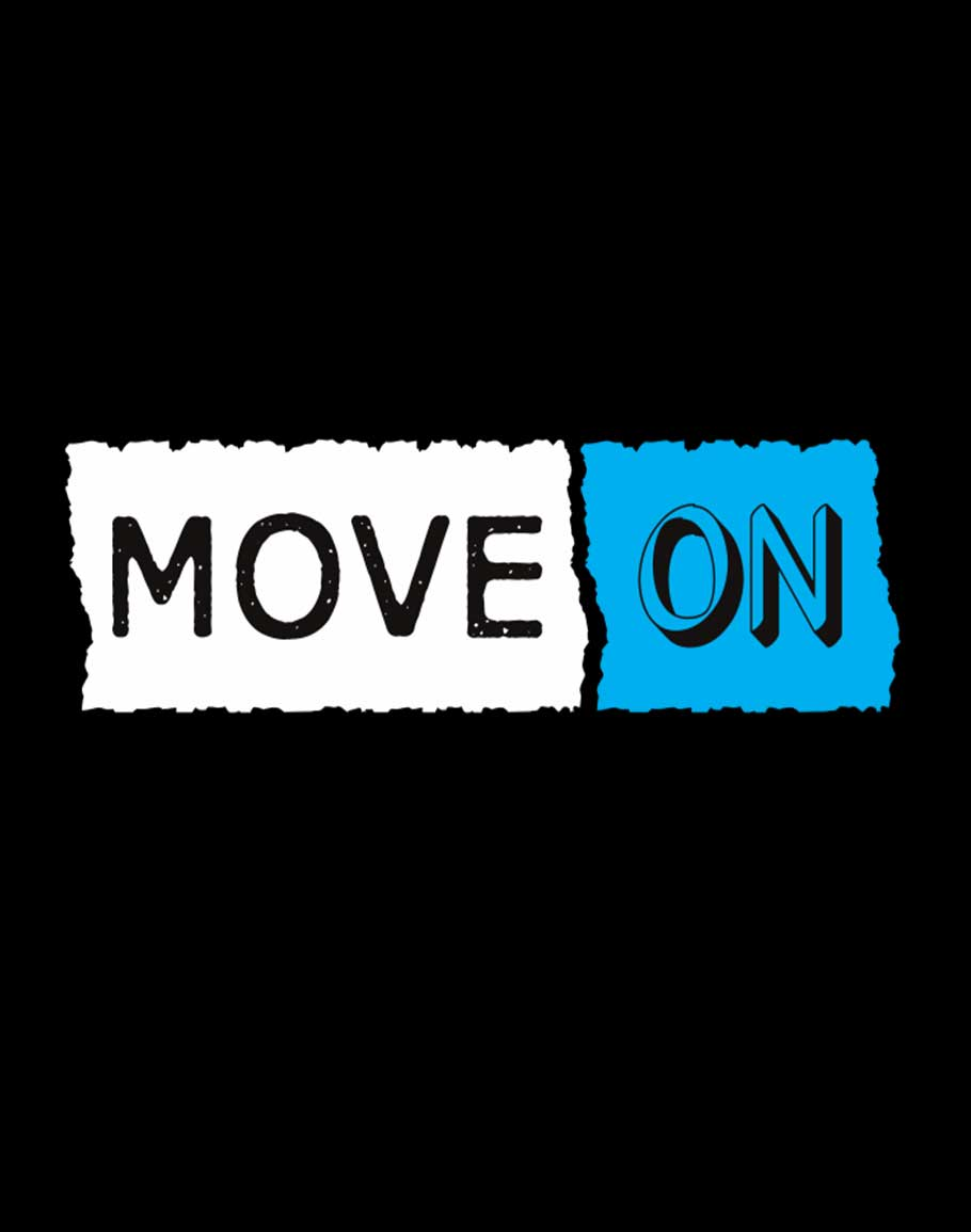 Move On Half Sleeve T-Shirt Black
