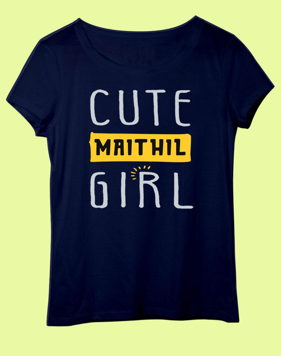 Cute Maithil Girl Half Sleev T-Shirt