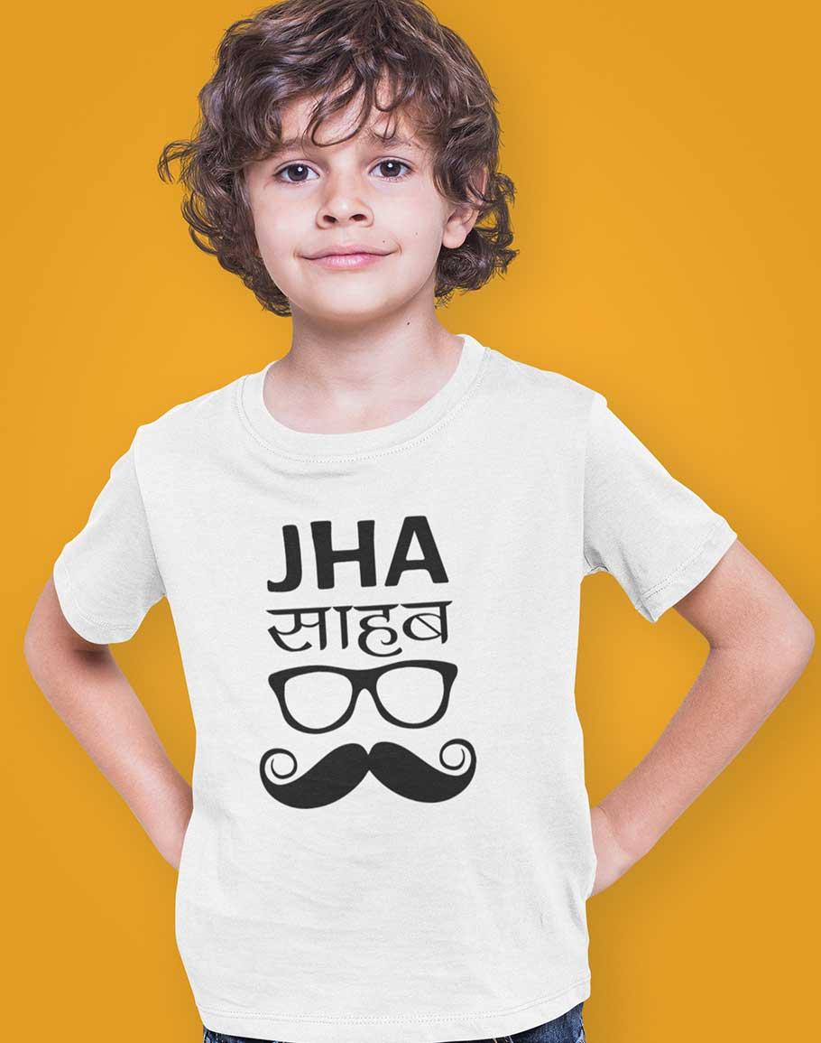 Jha Sahab Unisex Kids Half Sleeve T-Shirts