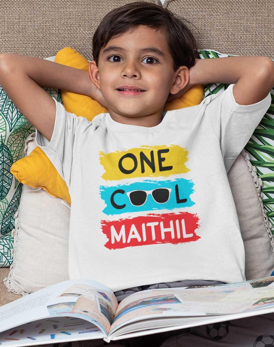 Cool Maithil Unisex Kids Half Sleeve T-Shirts